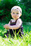 6 Month Old Baby Girl Outdoors Stock Images