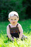6 Month Old Baby Girl Outdoors Stock Photo