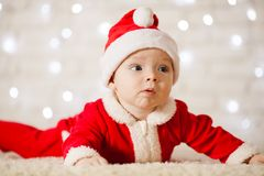 Little Santa baby royalty free stock images