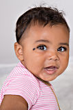 7 month old baby smiling Royalty Free Stock Photo