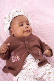 3 Month Old Little Baby African American Girl Portrait Stock Photos