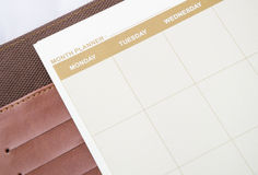 Month planner book Royalty Free Stock Image