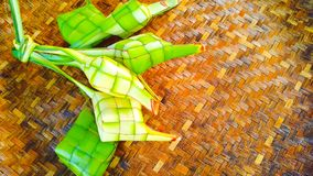 after the month of Ramadan is the feast of eating ketupat with family royalty free stock photography