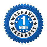 1 Month Warranty Badge Isolated Stock Image