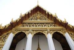 Montheintham Buddha Hall Wat Phra Kaew detaljer i Bangkok, Thailand, Asien Arkivbilder