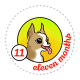Monthly baby sticker Royalty Free Stock Photography