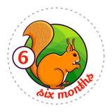 Monthly baby sticker Stock Photo
