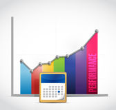 Monthly business performance graph Stock Photography