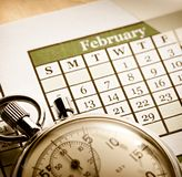 Monthly calendar Stock Images