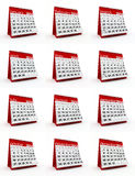 2014 monthly calendar. 3d rendered illustration Royalty Free Stock Photo