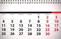 Monthly calendar royalty free stock photos