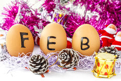 Monthly calendar - February Royalty Free Stock Photo