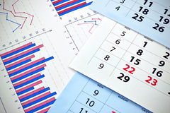 Monthly calendar Royalty Free Stock Photos