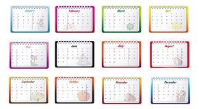 Monthly calendars Royalty Free Stock Photography