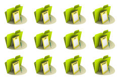 Monthly Calender Icon set. Twelve icons on the white background Royalty Free Stock Images