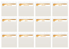 Monthly Calender Torn Paper_eps Royalty Free Stock Photography
