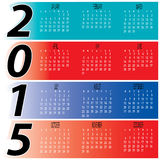 Daily Monthly Colorful Year 2015 Calendar Royalty Free Stock Images