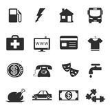 Monthly costs icons Royalty Free Stock Image