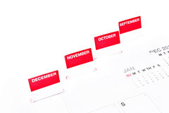 Monthly Organizer. Royalty Free Stock Photography