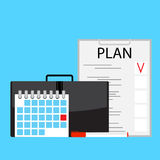 Monthly plan vector Stock Photography