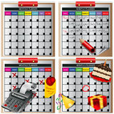 Monthly planner. Illustration of four monthly planners with different occasions vector illustration