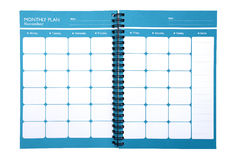 Monthly planner isolate (clipping path).  Royalty Free Stock Image