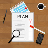 Monthly planning concept Stock Images