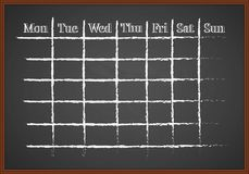 Monthly chalk-drawn schedule Royalty Free Stock Photos