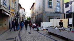 Monthly street flea market in Aveiro, Portugal