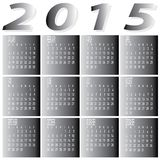 Monthly Year 2015 Two Tone Calendar Royalty Free Stock Photos