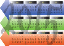Daily Monthly Yearly 2015 Calendar Planning Chart Stock Photography