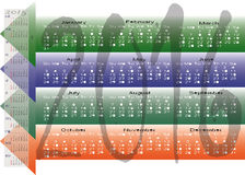 Daily Monthly Yearly 2016 Calendar Planning Chart Stock Photos