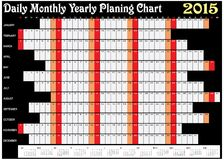 Daily Monthly Yearly Planing Chart 2015. Vector of Planing Chart of Daily Monthly Yearly 2015 stock illustration
