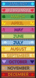 Months. Illustration of colorful background months Stock Photography