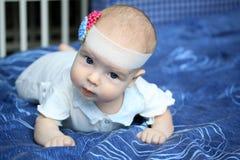 3-months behandla som ett barn flickan Royaltyfria Bilder