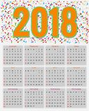 12 Months Calendar Design 2018. Editable Royalty Free Stock Photos