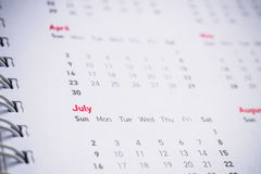 Months and dates on calendar. New year 2017 royalty free stock images
