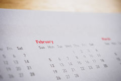 Months and dates on calendar new year. 2017 royalty free stock photography