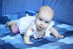 4-months dziewczynka Obrazy Stock