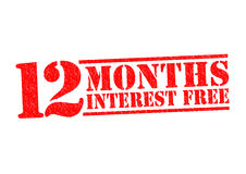 12 MONTHS INTEREST FREE Stock Photos