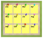 Months notice board Stock Images