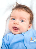 2 months old baby boy at home Stock Images