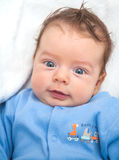 2 months old baby boy at home Royalty Free Stock Images