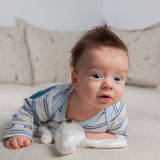 3 months old baby boy Stock Photos