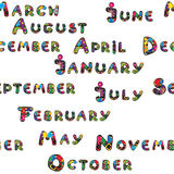 Months pattern Royalty Free Stock Images