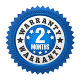 2 Months Warranty Badge Isolated. On white background. 3D render Royalty Free Stock Photography