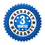 3 Months Warranty Badge Isolated. On white background. 3D render Royalty Free Stock Photo