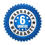 6 Months Warranty Badge Isolated Stock Photography