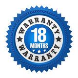 18 Months Warranty Badge Isolated Royalty Free Stock Images