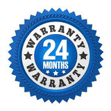 24 Months Warranty Badge Isolated. On white background. 3D render Stock Photography
